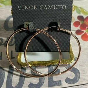 Vince Camuto Rose-Gold Polished Hoop Earrings